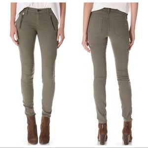rag & bone Rally Cargo Skinny Jeans in Army Green